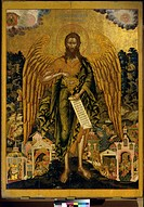 John The Baptist As The Angel Of Wilderness Tempera on wood Tretyakov Gallery, Moscow