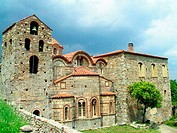 St. Demetrios cathedral at Mystras. Laconia, Peloponnese. Greece