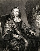 Francis North, Lord Guildford, (1637-1685). Lord Chancellor, English lawyer and counsellor to England's Charles II. From the book 'Lodge's British Por...