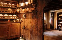 Recreation of the interior of a house in the XVII Century. Esterri d'Aneu. Lleida province. Catalonia. Spain