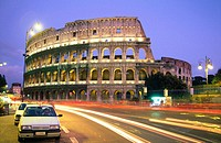 View of the Colosseum in Rome. Italy