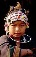 Akha girl near Muang Sing. North Laos