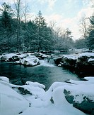 Little Pigeon River in winter. Great Smoky Mountains National Park. Tennessee. USA