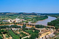 Bridge over Ebro River at Tudela. Navarra. Spain