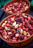 Greek pistachios in bowl