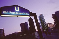 Subway exit at Potsdamer Platz. Berlin. Germany