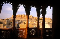 Views from Salam Singh Ki Haveli. Jaisalmer. Rajasthan. India