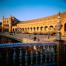 Plaza de España in Seville. Andalusia. Spain