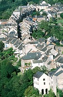 Najac in Aveyron. Meridional Pyrenees. France