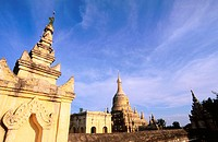 Buddisht temple in Bagan archeological site. Mandalay . Myanmar (Burma)