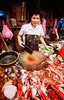 Fishmonger in Guangzhou. Guangdong. China