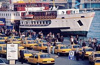 Traffic at the Corne d´Or. Istanbul. Turkey