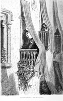 Balconies in Granada (drawing by Gustave Doré)