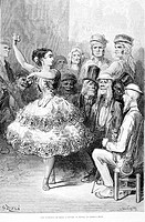 A dance academy in Seville (drawing by Gustave Dor&#233;)