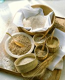 Still life with various types of grain & wholemeal flour (3)