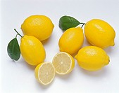 Lemons, whole and halved (1)