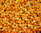 Various citrus fruits (filling the picture)