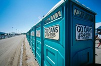 Go cans (Portable toilets). Louisiana. USA