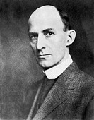 Wilbur  Wright  (1867-1912),   American  pioneer aviator.  Wilbur and his brother Orville ran a small  bicycle  factory  in  Dayton, Ohio.   They  bec...