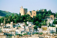 Overview on the Alhambra. Granada. Spain