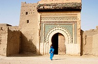 Kasbah of Marka, Ziz Valley, Tafilalet area. Morocco