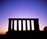 National Monument, replica of the Parthenon that was designed in 1822 as a memorial to the Scots... (thumbnail)