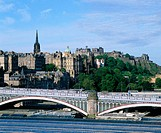 North Bridge and Old Town. Edinburgh. Scotland