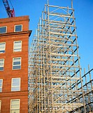 Steel framework, block of flats under construction