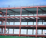 Steel framework, offices under construction