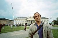 Jonathan Borofsky, American artist, in Kassel. 1993