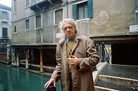 Anthony Burgess (1917-1993), English writer. Photographed in Venice in 1992