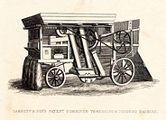 Combined Threshing and Dressing Machine. Garrett and Son's Patent