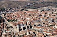 Aerial view of Avila. Castilla y Leon. Spain