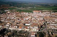 Aerial view of Zafra in Badajoz province. Extremadura. Spain