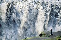 Dettifoss Waterfalls. Iceland