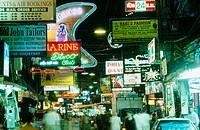 Walking Street at night. Pattaya. Thailand