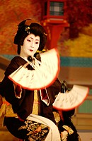 Gion Odori (Geisha dance) at Gion Kaikan. Kyoto. Japan