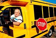 School bus driver. Rockaway, New Jersey.
