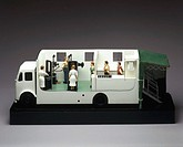 A cutaway model showing equipment, operators and patients. Vans such as this were used in the mass X-ray campaigns of the 1950s which were intended to...