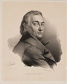 Lithograph by Delpech after an original work by Maurin of Comte Claude-Louis Berthollet (1748-1822), innovator in physical and applied chemistry. Bert...