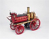 Model (scale 1:12). This self-propelled steam fire engine had twin-cylinders and was single speed and chain-driven. It was designed by Merryweather & ...