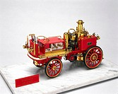 Model (scale 1:8). Metropolitan Fire Brigade steam fire  engine, designed by Shand, Mason & Co. After the London Fire Engine Establishment used its fi...