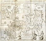 Engraving after a drawing by Engelbert Kaempfer (1651-1716) showing Japan with inset maps of the Tsugaru-Kaikyo and of the Kamchatka Peninsula (now pa...