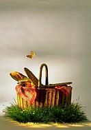 Picnic basket, still life