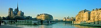 France, Paris, Ile St Louis and Ile de la Cite, panoramic view