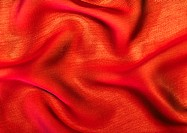 Orange fabric, close-up, full frame