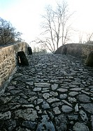 Cobblestone bridge, close-up