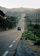 France, road through mountainous region