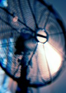 Electric fan, blurred