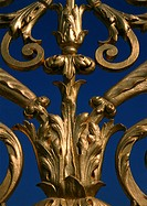 Gilded detail from gate, close up